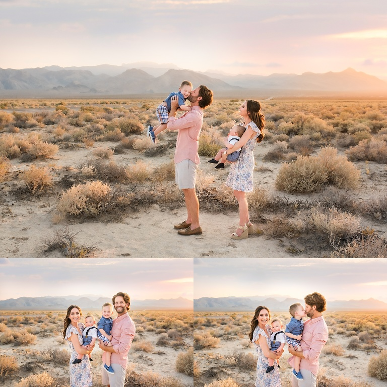 Family Session in the Desert