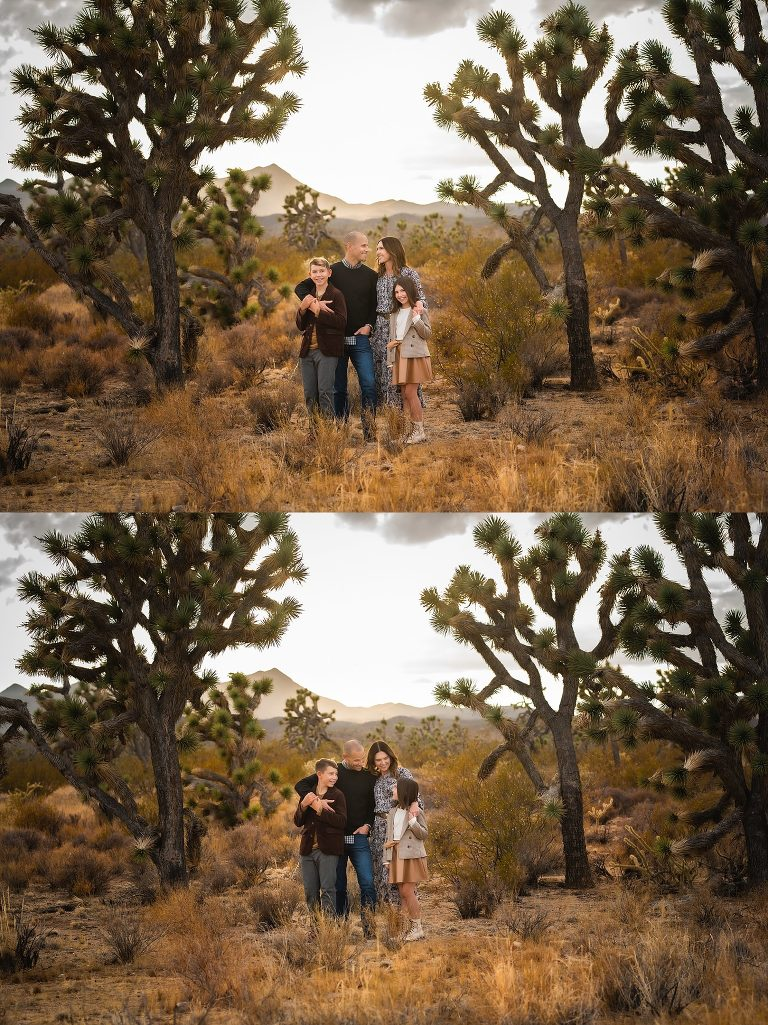 Family Session in Joshua Tree Forest